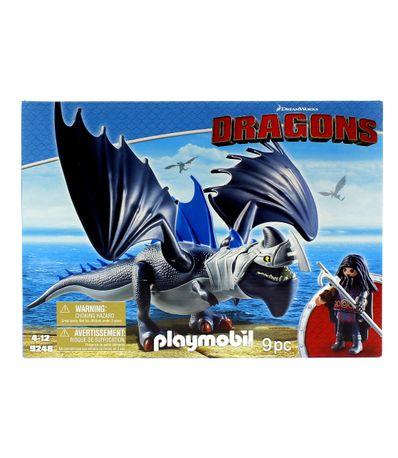 Playmobil-Drago-e-Dragao-com-Armadura