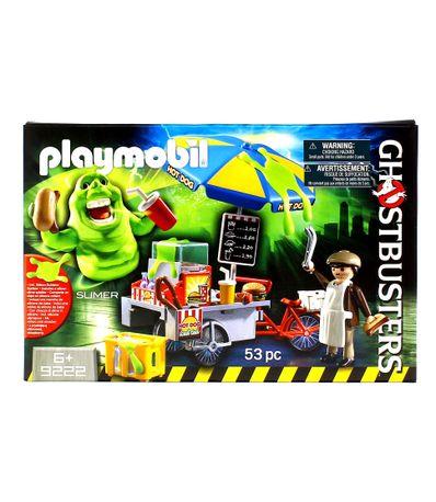 Playmobil-Slimer-com-Stand-de-Hot-Dog