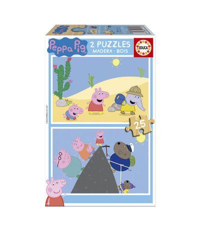 Peppa-Pig-Puzzles-de-2x25-Piezas