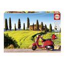 Puzzle-1500-Piezas-Moto-en-la-Toscana