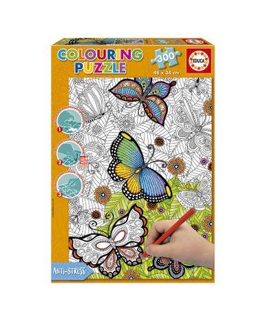 Puzzle-300-Piezas-Colouring-Mariposas