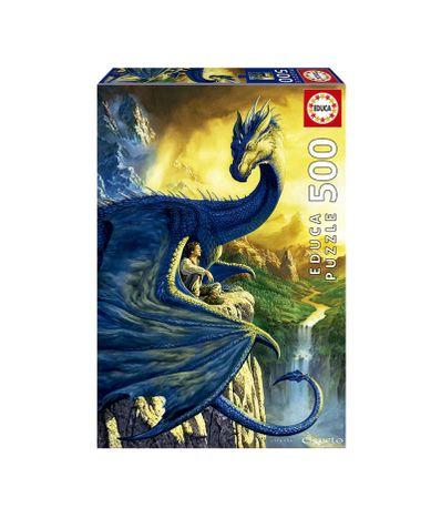 Puzzle-500-Pecas-Eragon-e-Saphira
