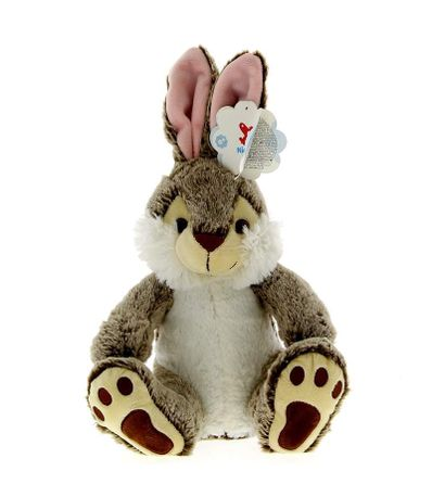 Peluche-Conejo-Marron-Oscuro-de-32-cm