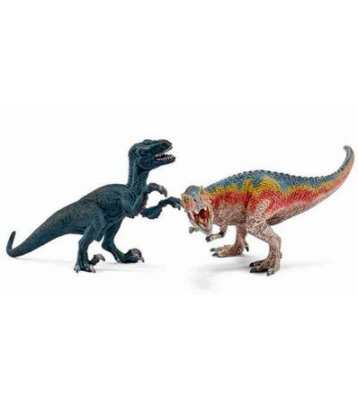 Figura-de-Tyrannosaurus-Rex-y-de-Velociraptor
