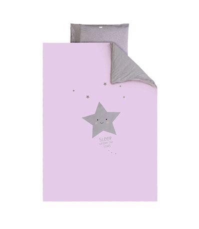 Funda-nordica---Funda-almohada-60-70-Star-Rosa