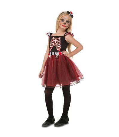 Infant-Skeleton-traje-Señotira-Tamanho-10-12-anos