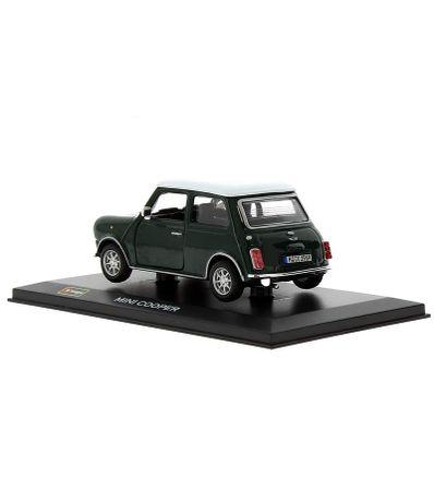carro-em-miniatura-verde-Mini-Copper-Base-e-caixa-Escala-1-32