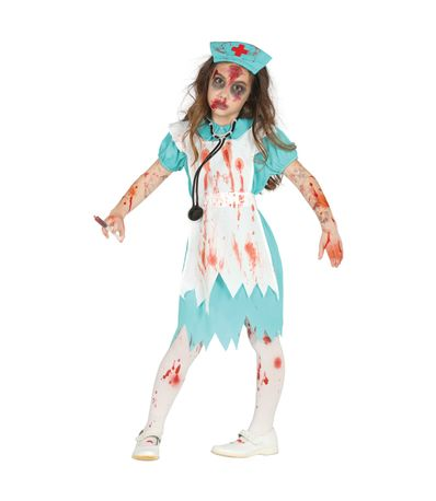 Disfraz-Infantil-Enfermera-Zombie
