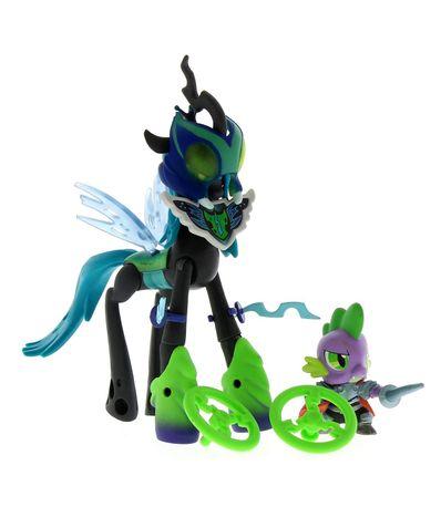 My-Little-Pony-Reina-Chrysalis-Vs-Spike-el-Dragon