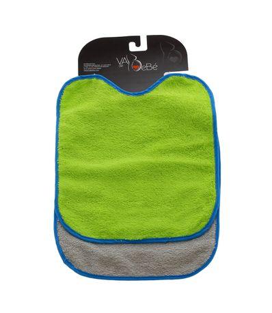 Pack-2-Baberos-rizo-con-goma-cuello-Gris-y-Verde