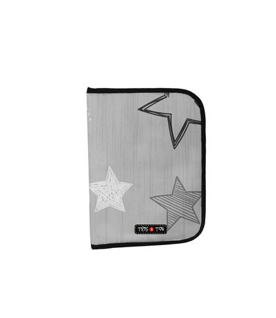 Portadocumentos-Estrellas-Gris