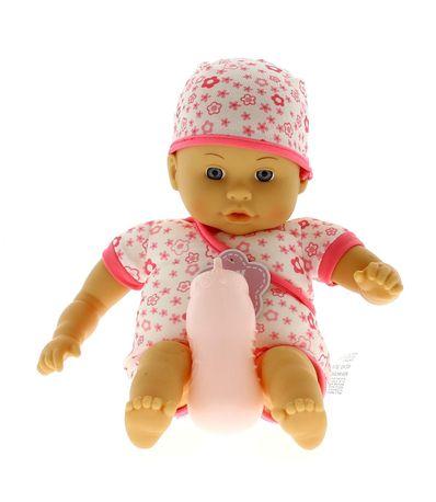 Muñeco-Bebe-con-Pijama-de-Flores-y-Biberon