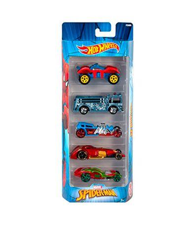 Hot-Wheels-Carros-Pacote-de-Spiderman