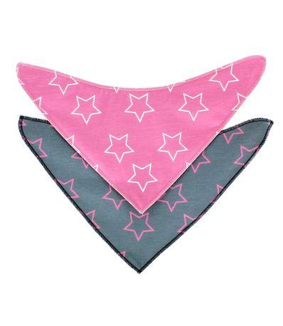 Pack-bandanas--babitas--Rosa-Estrellas-Blancas