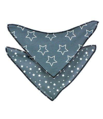 Pack-bandanas--babitas--Gris-Estrella-Blanca