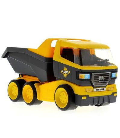Camion-con-Volquete-Amarillo