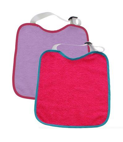 Pack-2-babadores-pescoco-Curl-e-regulador-de-borracha-cor-de-rosa---Lila