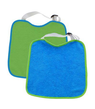 Pack-2-babadores-pescoco-Curl-e-regulador-de-borracha-azul---verde