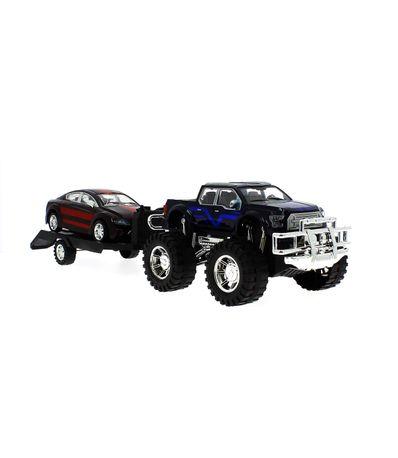 Y Jeep Remolque Juguete De Negro Coche Con Rojo b7gf6yYv