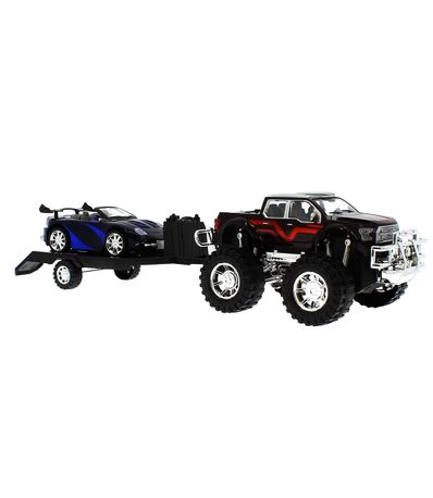 Jeep-de-brinquedo-com-reboque-e-conversivel-preto-e-azul