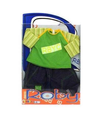 camisa-e-calcas-verde-boneca-Roby-definir-Tejano
