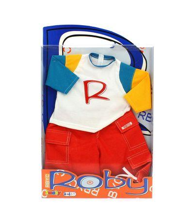 Roby-Doll-Set-T-Shirt-Branca-e-Calcas-Vermelhas