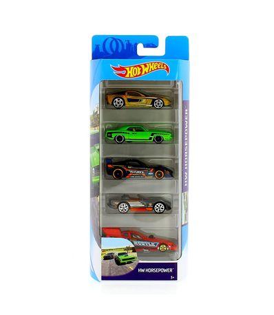 Hot-Wheels-Pack-5-Vehiculos-HW-Horsepower