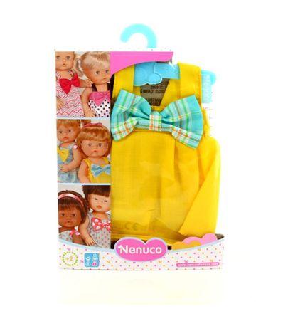 Nenuco-Percha-Ropita-com-vestido-amarelo