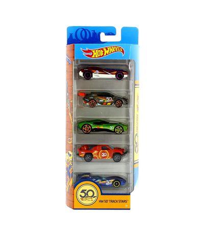 Hot-Wheels-Pack-5-veiculos-HW-50th-faixa-estrelas