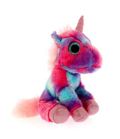Unicornio-de-Pelucia-Multicolor-Rosa-17-cm
