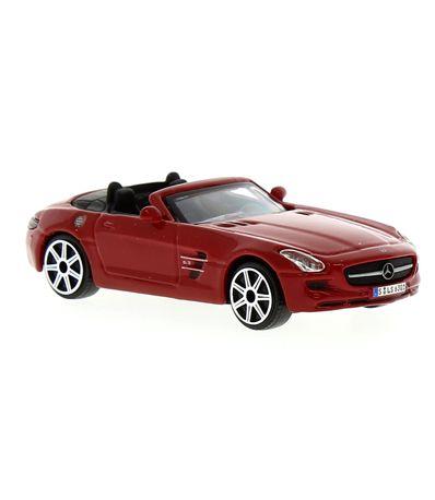 Coche-Miniatura-Street-Fire-Mercedes-SLS-AMG-a-Escala-1-43