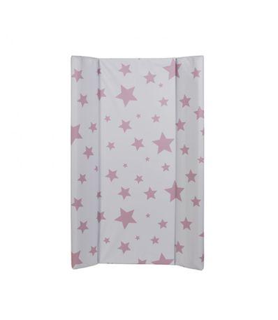 Cambiador-Rigido-Con-Topes-Estrellas-Rosa