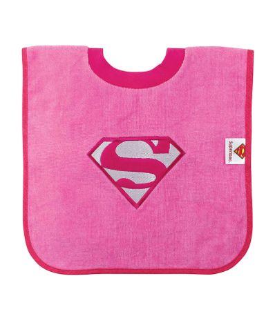 Babete-com-gola-camiseta-Supergirl