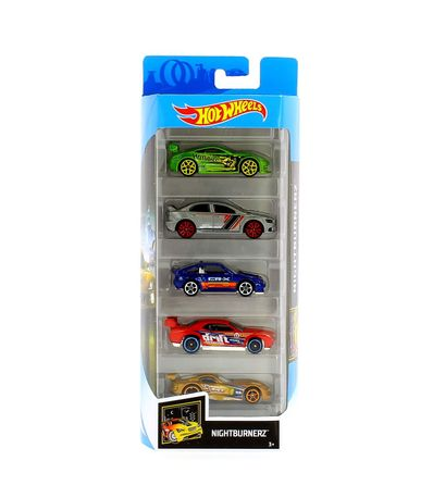 Hot-Wheels-Pack-5-Vehiculos-Nightburnerz