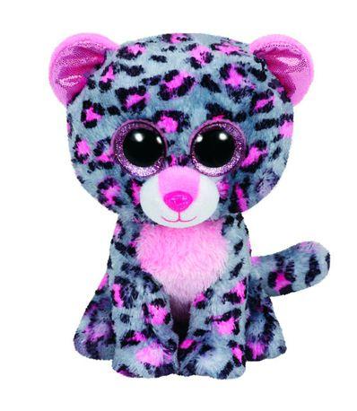 Beanie-Boo-s-Leopardo-Gris-de-Peluche-de-15-cm