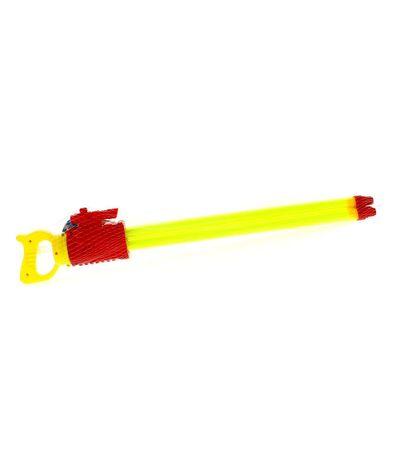 Pistola-de-Agua-de-60-cm-con-3-Cañones-Roja