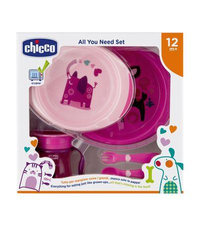 Vajilla-Infantil-5-Pzas--12-meses-Rosa