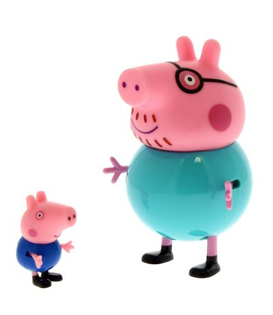 Peppa-Pig-and-George-Pig-Figura-Familia