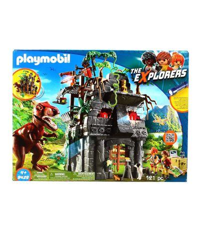 Playmobil-the-Explorers-Campamento-Base-con-T-Rex