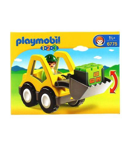 Playmobil-123-Excavadora-con-Pala