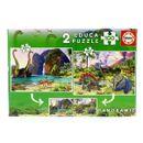 Puzzle-2x100-Dino-World-2x100