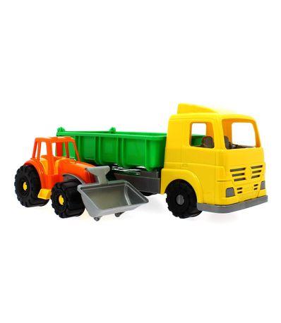 Camion-Con-Maquinaria-De-Obras