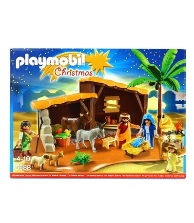 Playmobil-Christmas-Belen-con-Establo