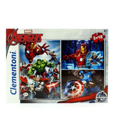Avengers-Puzzle-3x48-Piezas