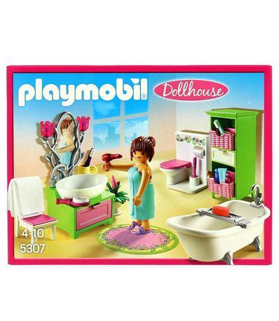 Playmobil-Dollhouse-Baño-Vintage