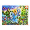 Puzzle-A-Princesa-e-o-Unicornio-de-1000-Pecas