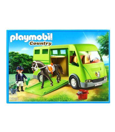 Playmobil-Country-Transporte-de-Caballos