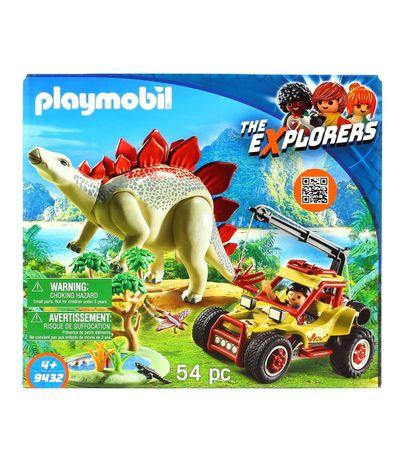 Playmobil-the-Explorers-Vehiculo-Explorador-con-Estegosaurio