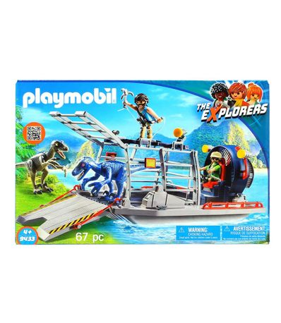 Playmobil-the-Explorers-Hidrodeslizador-con-Jaula