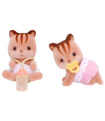 Sylvanian-Families-Figuras-de-Gemeos-Esquilos